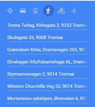 Sentrum Martensnes  rute