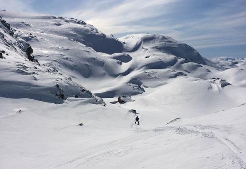 Bare vi - og to par ski