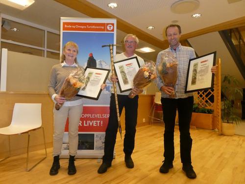 Tine, Knut og Erlend ble hedret på årsmøtet