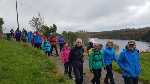 Tur på Kallestad langs Storavatnet til Kvedna med Onsdagsgruppa