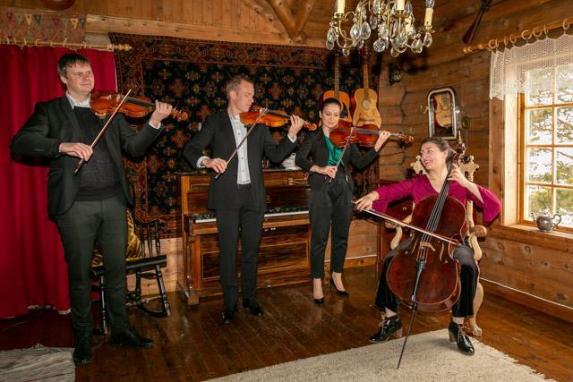 Operaen i Kristiansund sin strykekvartett på Vangshaugen