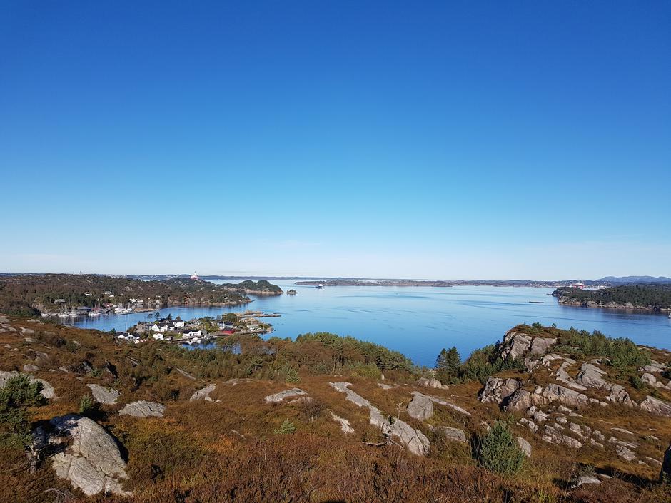 På utsiktspunkt mellom Vågo og Saltskohavn