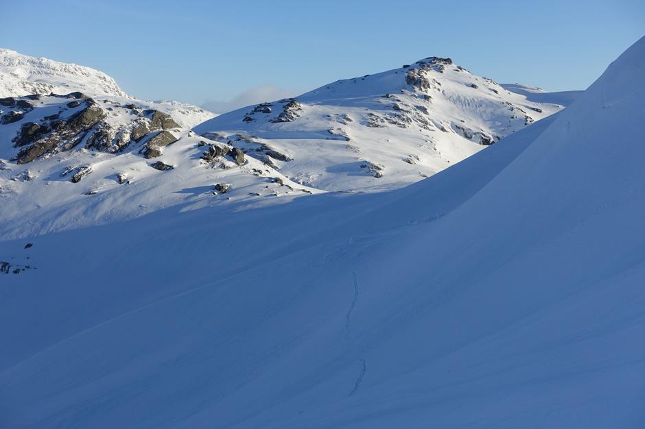 Onsdag 22.01. Ved Fuglafjell, Bergsdalen
