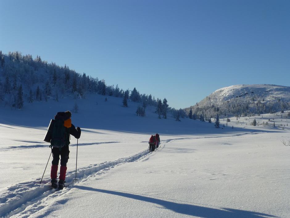 Skitur hytte til hytte på Norefjell med DNT ung Larvik, februar 2018