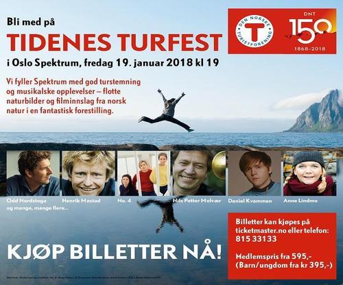 Ønsker du gratis transport til DNT Turfest 19. januar 2018?