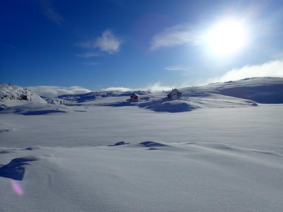 Virkelig fine skiforhold til Sandvatn.