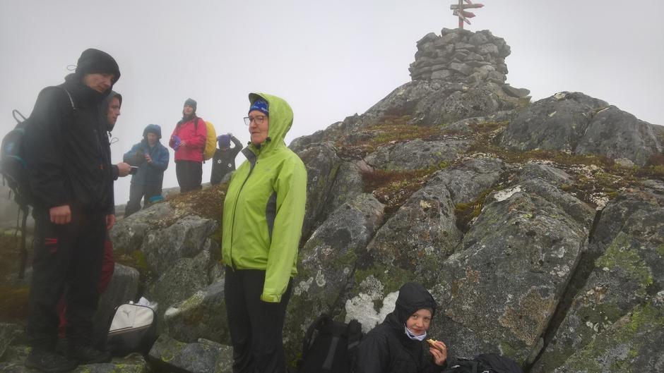 Ein liten pause på toppen av Fløyen.