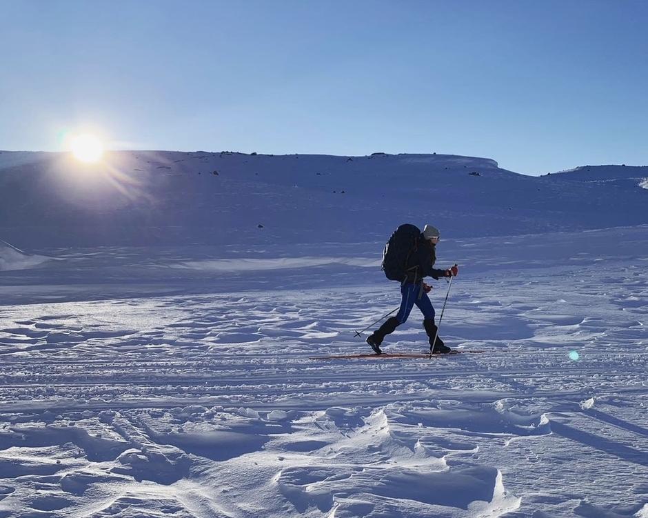 PÅ VEI TIL SANDVATN: Nyt naturopplevelsene på ski fra Hunnedalen til en eller flere av turisthyttene.