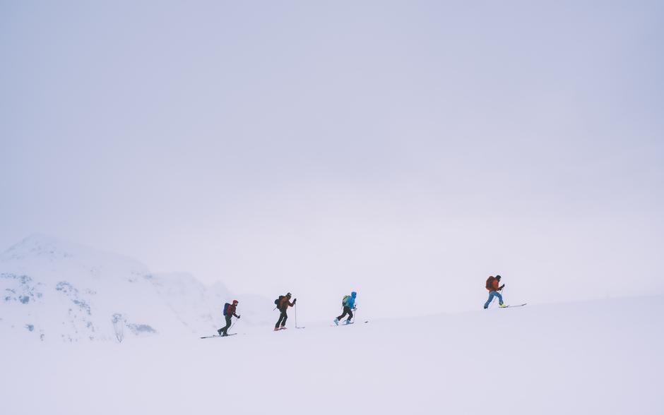 Fra skredkurs med DNT i Tromsø februar 2020
