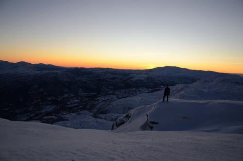 Solnedgong på Torefjell