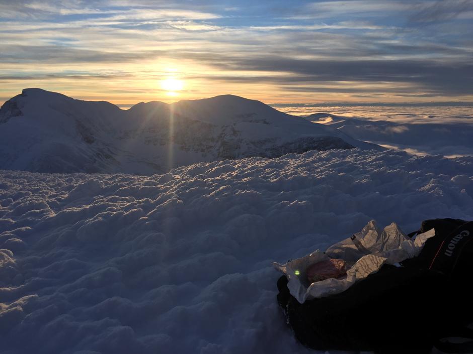 Vakker soloppgang i Rondane