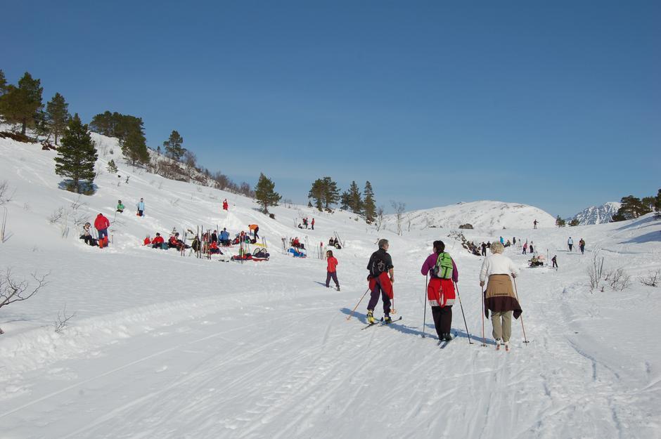 På ski ved Langdalsbu
