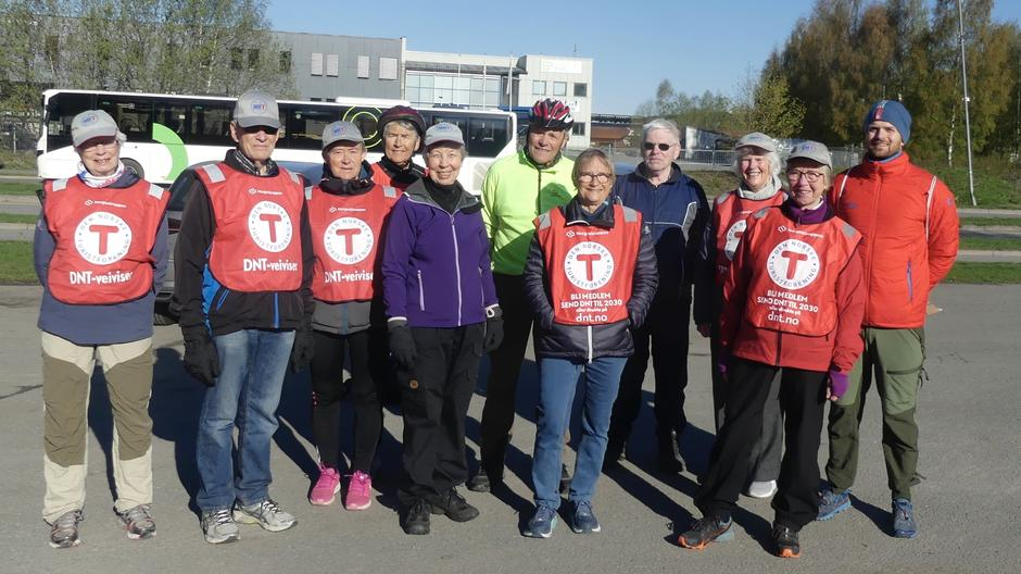 Mange fra Onsdagsgruppa hjalp til på Opptur. Her fra Hamar.
