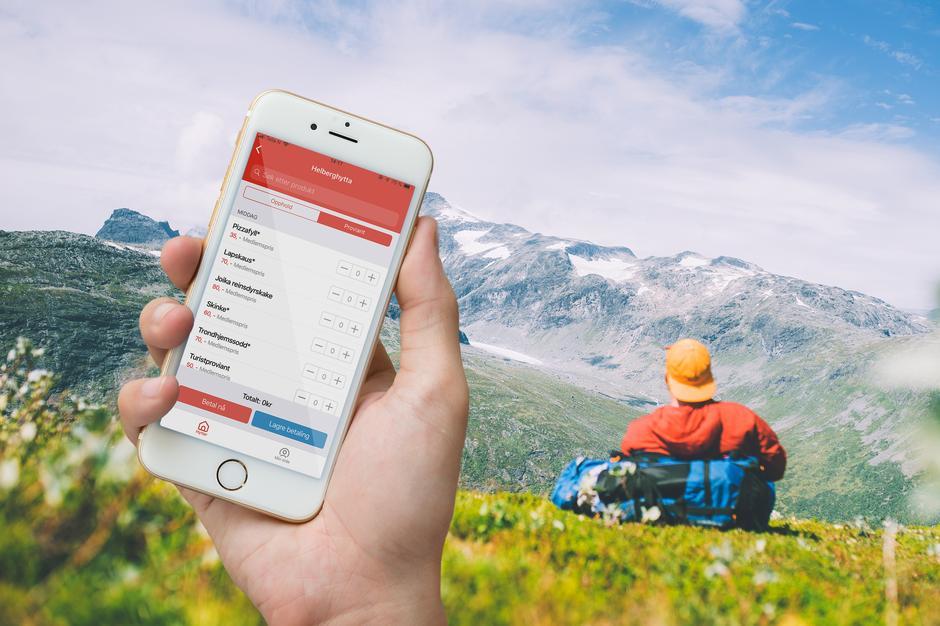 Med den nye appen vil det bli mye lettere å ha full kontroll på betaling av proviant og opphold!