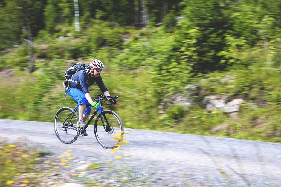 Full fart ned mot Hammeren i Nordmarka.
