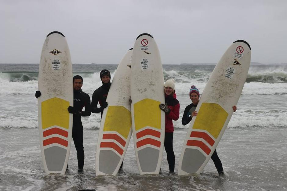 Surfetur til Jæren med HT ung