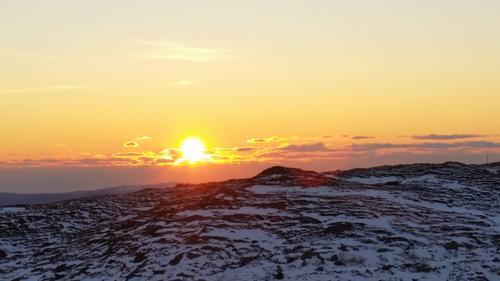 Solnedgang sett fra Rundemannen i Bergen.