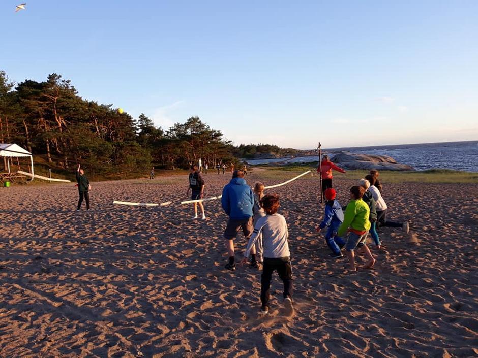 Telttur med Barnas Turlag på Storesand, Kirkøy.