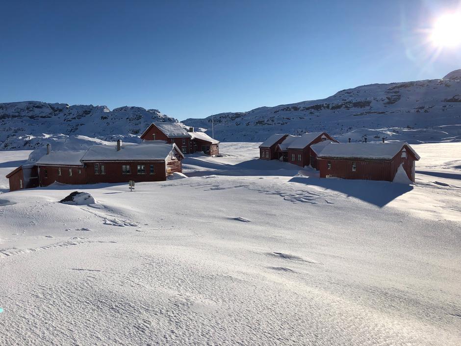 Fine forhold for ski omkring Stranddalen.