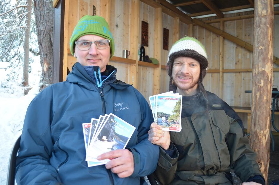 Gjør som Ruben og Sindre! Kom innom tursenteret i Skien og få med deg en folder.