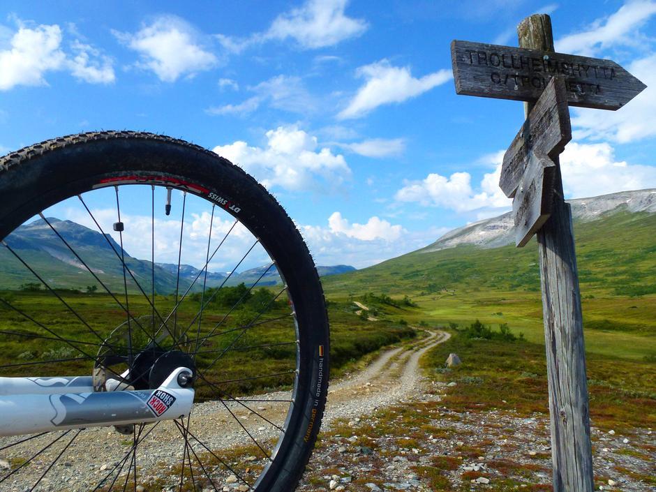 Innover Jøldalen kan du sykle på fin setervei.