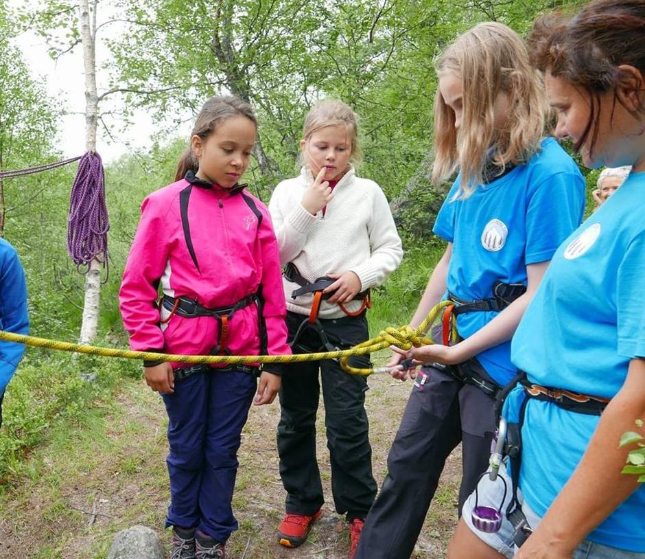 Instruksjoner før klatring