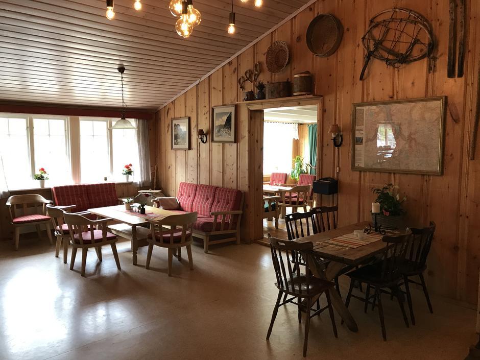 Interiør Aurlandsdalen Turisthytte Østerbø.