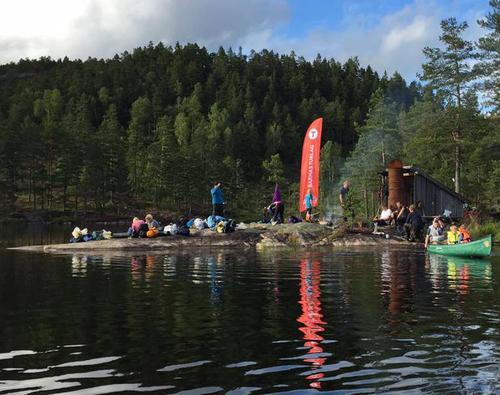 Fra kanoturen til Evjevann 13. - 14. august