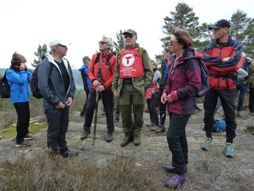 Frå onsdagstur i Havrefjell Turlag til Loftshei og Ormåsen i Risør 24.04.19