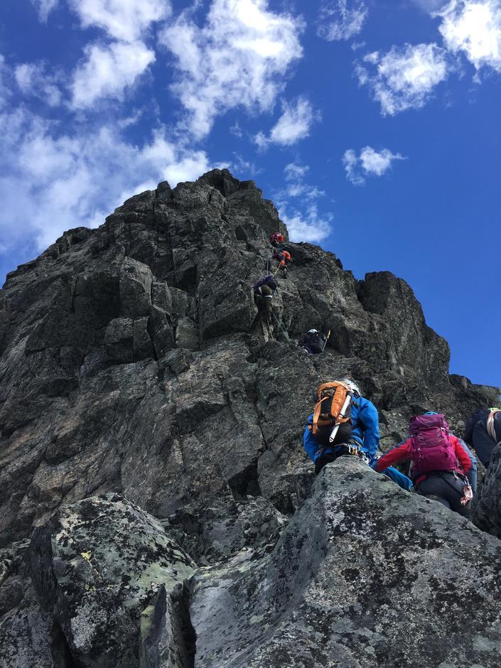 På vei opp på Skeie 2118 moh