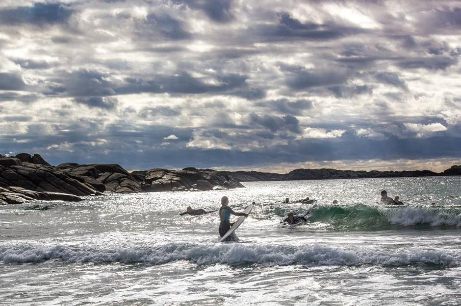 DNT ung Haugesund på Surfetur til Jæren