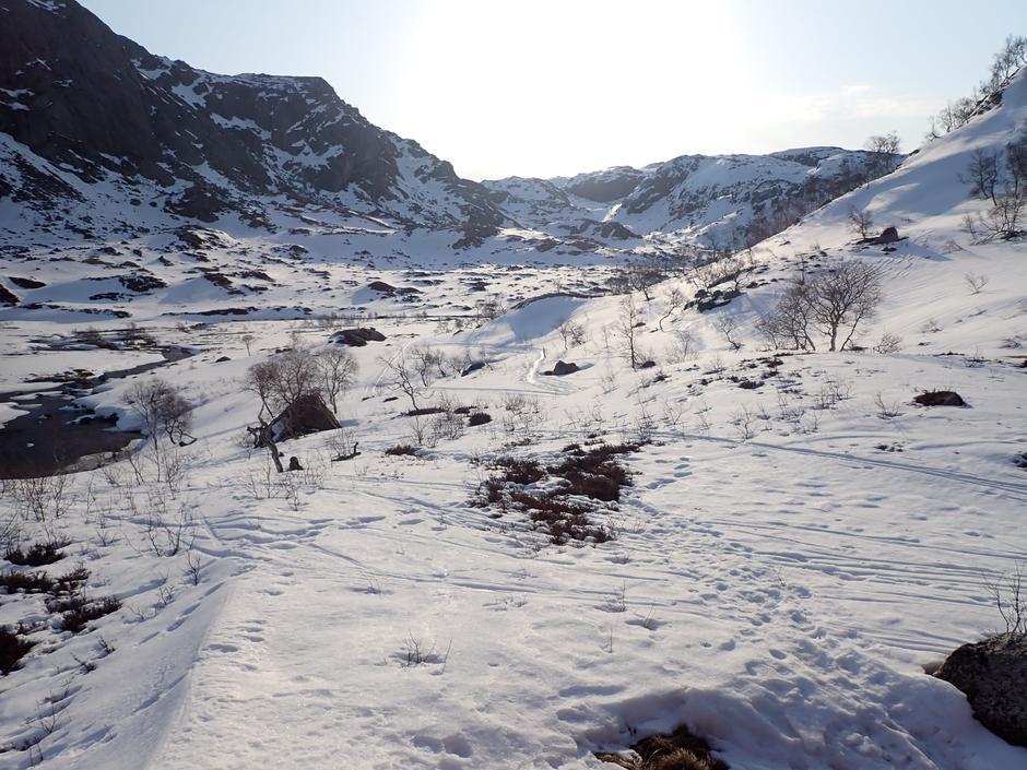 Ned mot Blåfjellenden.