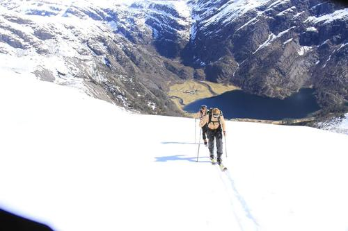 Skitur til Egga frå Grøndalen inst i Norddalsfjord