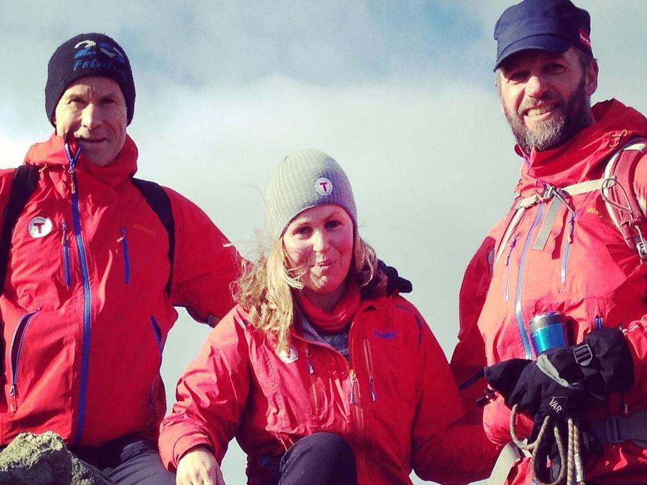 Eivind og Mons-Ove med sjefen i midten!
