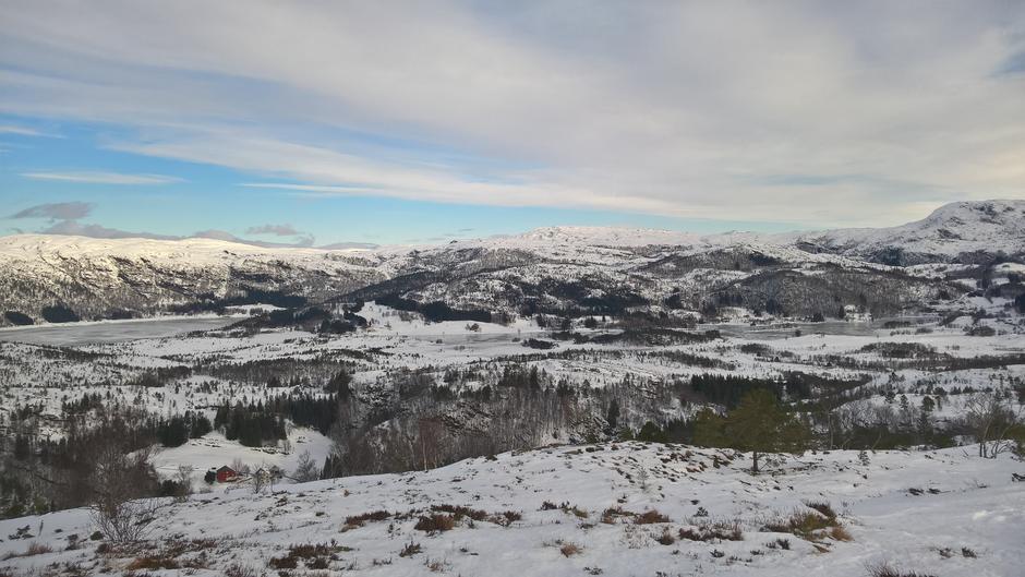 Utsikt over Øvre Lavikdal