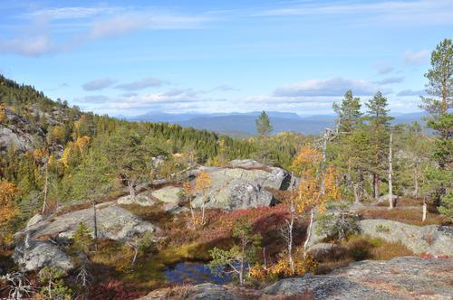 Utsikt til Blefjell.
