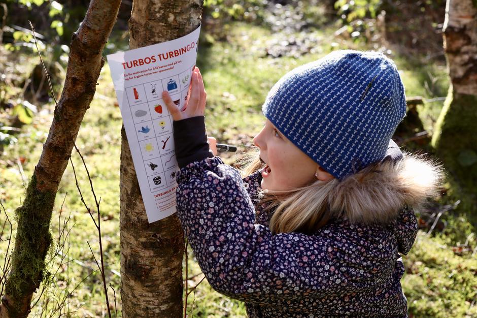Turbingo er en fantastisk motivasjon for barna på tur!
