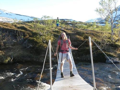 Brua mellom Børvatnet og Lurfjellhytta tatt ned