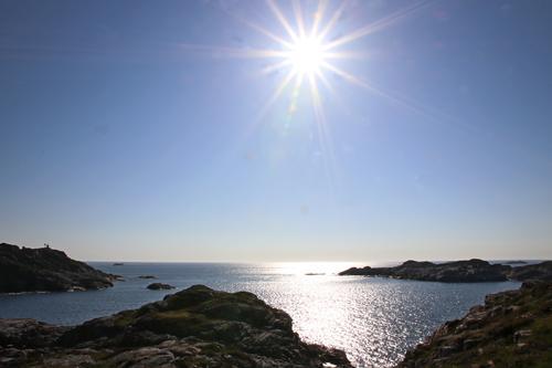 Utsikt ut mot havet på Hitsøy.