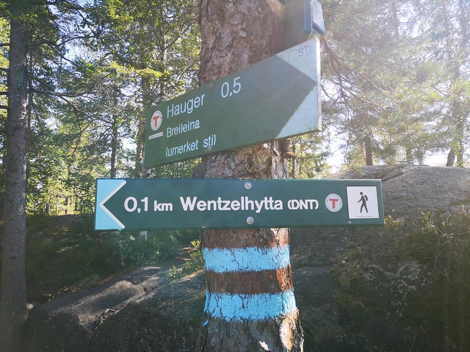Ny skilting til Wentzelhytta