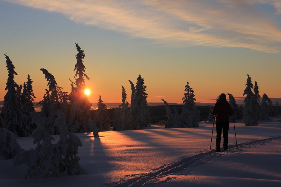 Nydelig utsikt fra Svaen.