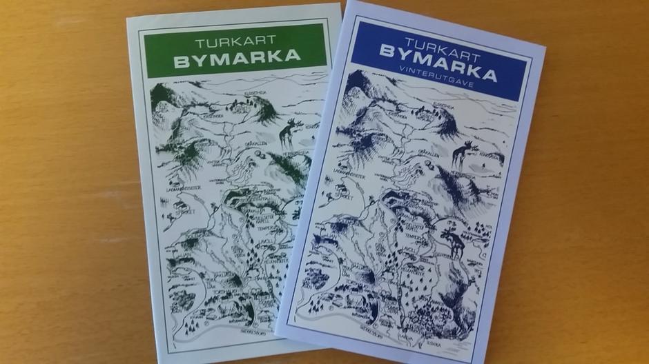 Bymarka kartene - kan kjøpes på Rønningen