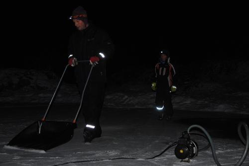 Vi ordner ny is på Skøytevannet