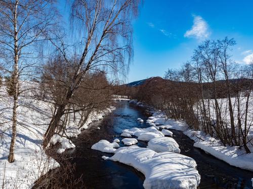 Første vintertur i Hakadal