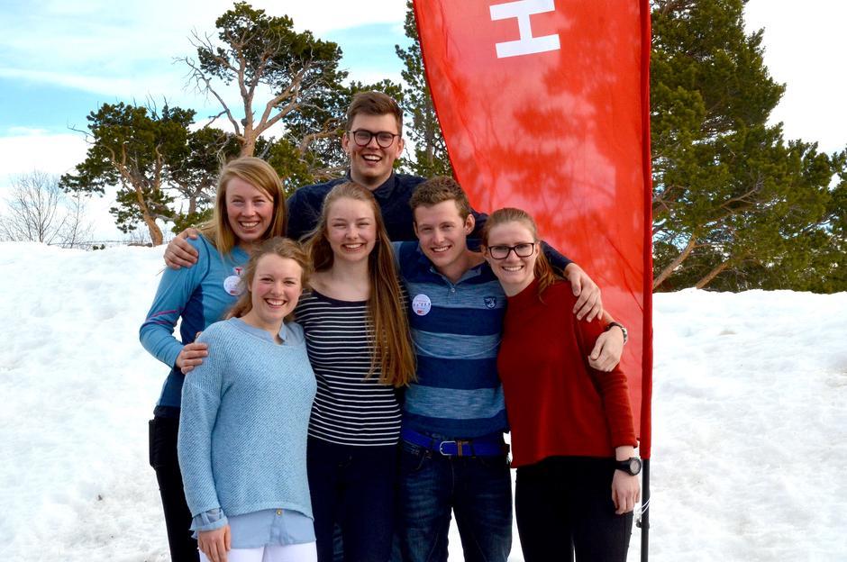 DNT ungs landsstyre slik det ser ut etter Landsmøtet 2016.