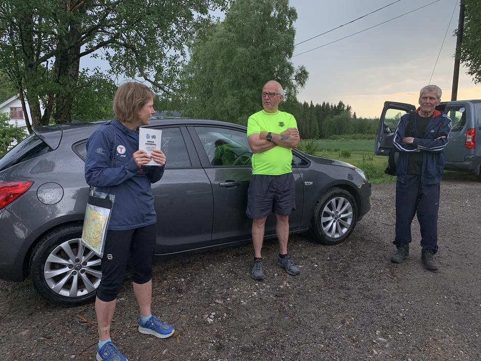 Stimerkekurs. Fra venstre Bente S. Langøigjelten, Stein Sandaker og Gulbrand Nøkleby.