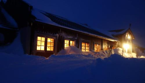 Vinterstemning på Fondsbu