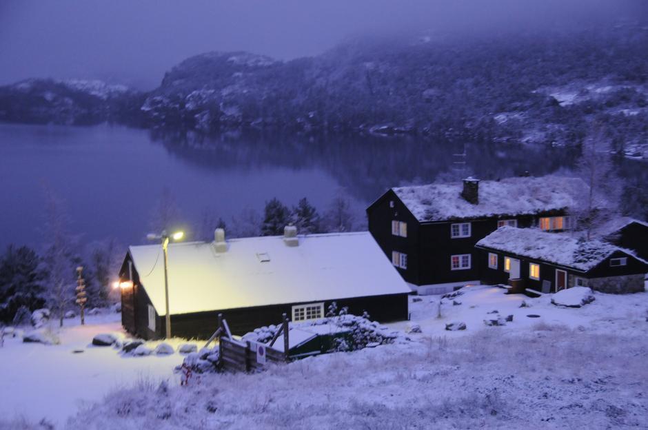 WINTER WONDERLAND: Trolsk stemning i vinterlys.