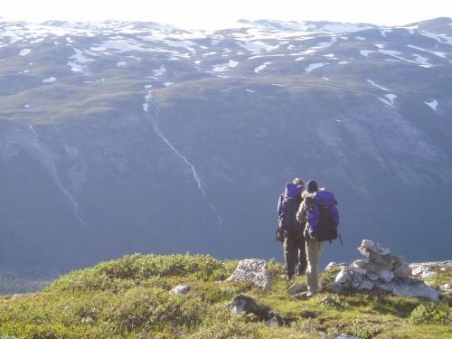 Nedstigning mot Sota. Foto Kjersti Magnussen