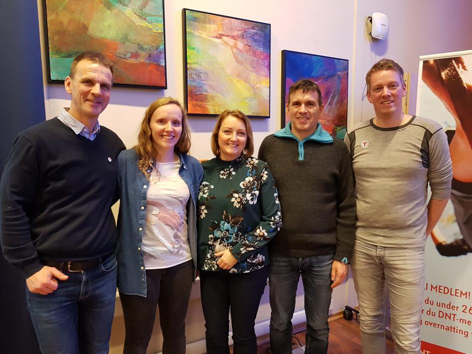 Nytt styre SFT  2018. F.v. Marino J. Ask styreleiar, Silje Marita Vallestad, Irene Lunde, Tor Arne Hauge og Tor Magne Gangsøy.
